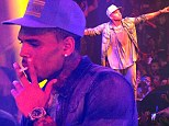 Chris Brown performs at Gotha nightclub in Cannes