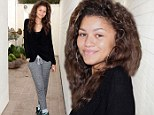 Zendaya lets her natural beauty shine through while clad in sweatpants at Ludacris' beach bash in Malibu