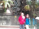 Siblings: Chris and his sister were at the Central Park Zoo on Saturday before the nine-year-old got lost