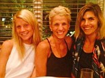Girls night out: Jessica Seinfeld posts an Instagram Saturday of her, Gwyneth Paltrow and another friend at dinner