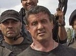 Action heroes: Sylvester Stallone (front row, right) and Arnold Schwarzenegger (second from left) appear together in this summer's action blockbuster Expendables 3