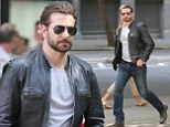 Bradley Cooper sports leather jacket and aviator shades as he films scenes for culinary film Adam Jones
