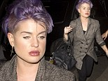 Purple haired Kelly Osbourne looking worse for wear was seen arriving at the Chateau Marmont