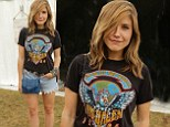 Hot for Sophia! Ms. Bush reveals her love for Van Halen as she dons a retro tour shirt for the band while attending Lollapalooza