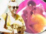 Miley Cyrus steps out in kimono-inspired dress and top knot bun after making out with male dancer on stage
