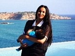 'He's so fascinated!' Ciara dons sheer black dress while taking in the sweeping vistas with two-month-old son Future in Ibiza