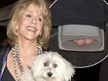 Jane Fonda heads out for dinner wearing a boot cast