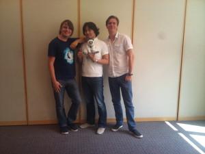 Ruben, Hideo und Tim