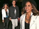 Crazy In Love! Jessica Alba and husband Cash Warren hold hands while on a date night at Beyonce and Jay-Z concert