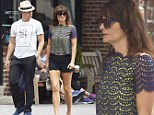 Helena Christensen heads out with boyfriend Paul Banks in the West Village neighborhood of NYC
