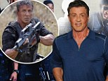 Tough guy: While at a press conference in London on Monday, Sylvester Stallone revealed he had a metal plate inserted in his back after getting injured on set of Th Expendables 3
