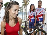With a team of eight Cyclists including Brother James. Pippa is raising money for the Michael Matthews Foundation\nPictured: Pippa Middleton, James Middleton\n