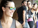 Maintaining her relationship! Alessandra Ambrosio breaks a sweat with fianc� Jamie Mazur at SoulCycle studios