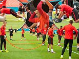 Team Manchester United Trains Before Final Match of Guinness International Champions in Miami  Pictured: Training Ref: SPL814606  030814   Picture by: Michele Eve / Splash News  Splash News and Pictures Los Angeles: 310-821-2666 New York: 212-619-2666 London: 870-934-2666 photodesk@splashnews.com