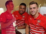 Naive: new Arsenal recruit Calum Chambers faces his new team mates with his singing skills