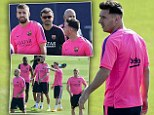 Lionel Messi returns to Barcelona training after his World Cup exploits