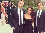 Kyle Richards looks stunning in strapless black dress for niece's wedding... as she poses with Paris Hilton's brothers