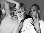 What marriage troubles? Beyonce and Jay Z put on a united front backstage after a performance for their On The Run tour on Sunday in LA