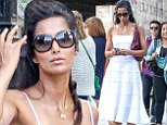 Padma Lakshmi is summer chic in white frock as she steps out in New York after showing off her bikini body in Mexico