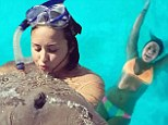 Sea bliss: Demi Lovato shared a video of her swimming under her bungalow during a previous island getaway