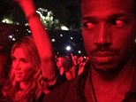 'I got the most unrhythmic white woman dancing next to me!': The moment Marlon Wayans meets Delta Goodrem at Beyonce and Jay-Z's On The Run tour