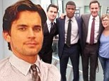 'I love this family so much': White Collar star Matt Bomer cuddles up with castmates on 'rough day' as show comes to a close