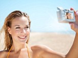Holiday snaps: But 58% of women have admitted deleting unflattering photos of them while away