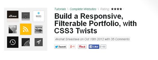 Build a Responsive & Filterable Portfolio with CSS3 Twists