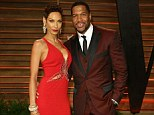 Break up: Nicole and Michael Strahan, pictured at the Oscars Vanity Fair party in March in happier times