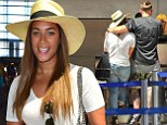 Heading home! Leona Lewis cuddles boyfriend Dennis Jauch in Los Angeles as they catch a flight back to London... after he lands speeding ticket