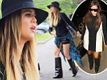 As a member of the Kardashian clan, 30-year-old Khloe has a massive closet of chic designer duds to choose from each morning - but sometimes can't resist borrowing from the wardrobes of her famous family.On Tuesday she was spotted stopping by the Kardashians' boutique Dash wearing a pair of $2,600 Givenchy black boots that have previously been seen on her 33-year-old sister Kim.