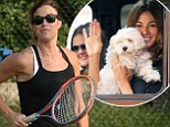 From writing books The Bikini Book and I Can Make You Hot to appearing on the cover of Shape magazine, Kelly Bensimon knows a thing or two about fitness. And on Tuesday, the 46-year-old put her athletic physique on display as she played tennis with her eldest daughter 16-year-old Sea Louise.
