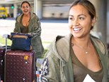 Touchdown: Jessica Mauboy arrives at LAX on Tuesday after flying in from Glasgow, Scotland where performed at the Commonwealth Games