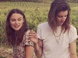 Oui oui: Catherine McNeil enjoys a glass of wine in France with Keira Knightley and her husband James Righton