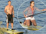 EXCLUSIVE: Tom Hanks and wife Rita Wilson spend their holiday on a wild Island in the Cyclades of Greece. They spend their time with stand up paddling, it seems they love to paddle as they do it every single day.  Pictured: Tom Hanks   Ref: SPL811838  040814   EXCLUSIVE Picture by: Splash News  Splash News and Pictures Los Angeles: 310-821-2666 New York: 212-619-2666 London: 870-934-2666 photodesk@splashnews.com