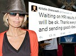 'Waiting on MRI results': Kristin Chenoweth tweets about mysterious health condition that has left her 'unable to move'