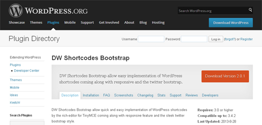 DW Shortcode bootstrap