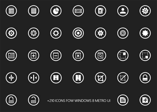 Metricons Windows 8 Icon Set