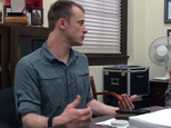 This photo provided by Eugene R. Fidell  shows Sgt. Bowe Bergdahl preparing to be interviewed by Army investigators in August, 2014.  The U.S. Army has begun...