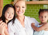 Family first: Katherine Heigl with daughters Naleigh, five, and Adalaide, two