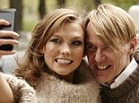 BFFS! Ms Kloss and Mr Downing pose for a selfie during their shoot for Neiman Marcus's 'magalog' The Art of Fashion