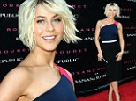 Julianne Hough shows off her dancer's body in a clinging one-shoulder dress while arriving at Banana Republic event