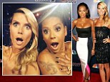 'Where did our clothes go?' Heidi Klum and Mel B pose for 'naked' selfie after dazzling in cleavage-baring dresses at America's Got Talent