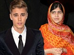 'Just got to FaceTime with Malala Yousafzai': Justin Bieber reveals charitable side during video chat with 17-year-old Pakistani education activist