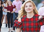Chloe Grace Moretz meets some of her fans at the El Capitan Theatre in Hollywood following her appearance on 'Jimmy Kimmel Live'