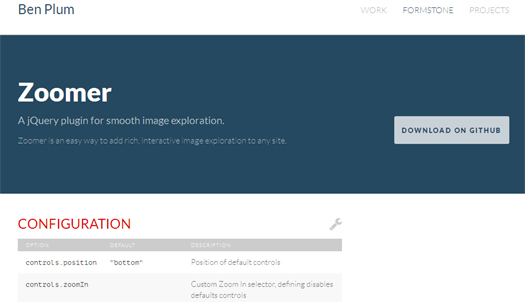 Zoomer  jQuery plugin for Smooth Image exploration