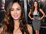 Megan Fox continues to dazzle on red carpet in fitted black-and-white frock at New York premiere of Teenage Mutant Ninja Turtles