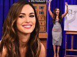 Not just a pretty face! Megan Fox beats Jimmy Fallon in a round of Pictionary... while wowing in a tight grey dress