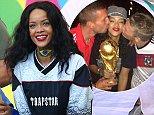Mandatory Credit: Photo by LAURENTVU/TAAMALLAH/SIPA/REX (3924063bn)  Rihanna  Germany v Argentina, 2014 FIFA World Cup Final football match, Maracana Stadium, Rio de Janeiro, Brazil - 13 Jul 2014