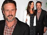 Prince of patterns! David Arquette looks sharp in pin stripes and plaid at charity event with fianc�e Christina McLarty
